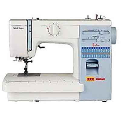 Usha Janome Automatic Stitch Magic 85 Watt Sewing Machine White and Blue  available at Amazon for Rs.14500