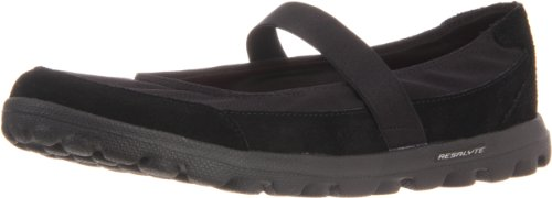 Skechers - Go Walk Everyday, Ballerine da donna, nero (bbk), 36