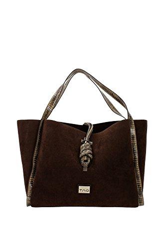 Borse Shopping Pinko Donna Poliestere Marrone 1H204AY1NNM12 Marrone 16x28x36 cm