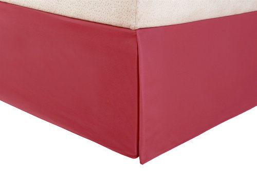 Impressions 1500 Series Wrinkle Resistant Pleated Twin Bed Skirt Solid, Burgundy front-739018