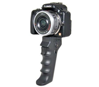 Kaavie - Pistol Grip / remoto per Canon, Casio, Fujifilm, Hewlett-Packard, Kodak, Nikon, Olympus, Panasonic-grande per le riprese video e la fotografia (cavi di collegamento in vendita separatamente)