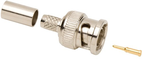 Allen Tel GBNC-108B-75 75-Ohm BNC Male Coaxial Crimp Connector for RG-59/RG-62, 1-Pack