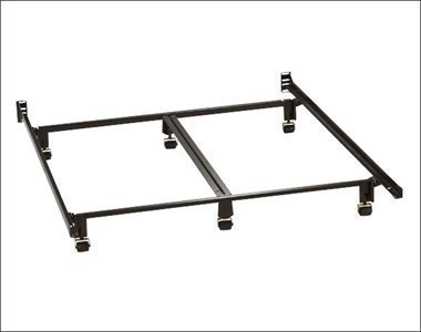 Milliard Super Heavy Duty Metal King Bed Frame With Rug Rollers And Double Rail Center Support front-9247