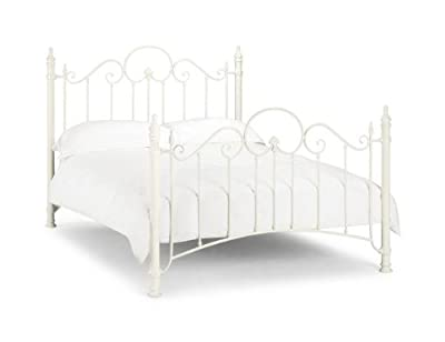 Happy Beds Florence Metal Bed Stone White Classic Victorian Bedroom Furniture