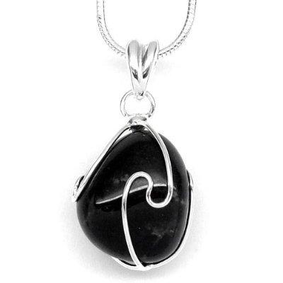 Petite Onyx Stone Necklace