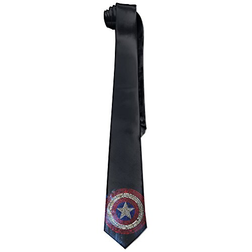 MDSHOP Men's Super Hero Captain America Shiled Necktie Skinny Ties / New Novelty Necktie (Bow Tie Captain America compare prices)