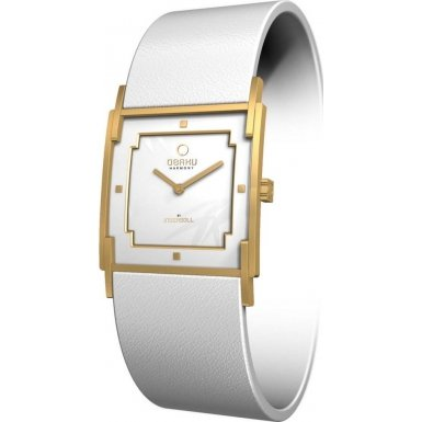 Obaku By Ingersoll Ladies White Leather Strap Watch