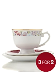 Kirstie Allsopp Tea Cup, Saucer & Side Plate Set