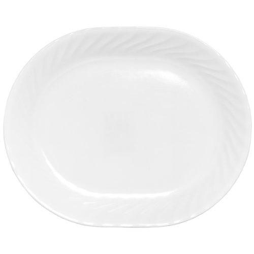 "Corelle Impressions Enhancements Serving Platter, White, 12-1/4"", Pack of 3"