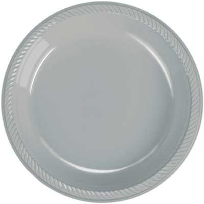 Silver Shimmer Plastic Dessert Plate 20 Count