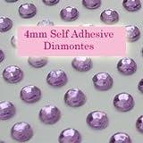 300 Lilac 4mm Acrylic Rhinestone Gems ~ Self Adhesive