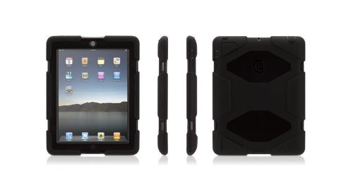 Griffin Survivor Military Duty Case with Stand for iPad 2 &#038; iPad 3, Black