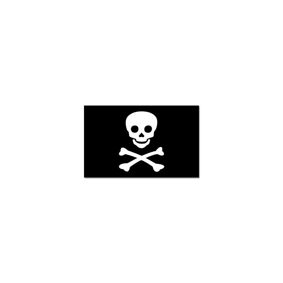 Jolly Roger Pirate Skull Flag car sticker decal 6 x 4