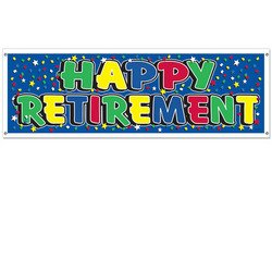 Happy Retirement Sign Banner Party Accessory (1 count) (1/Pkg) by The Beistle Company