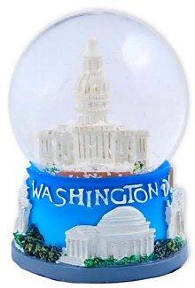 Washington DC Snow Globe - 45MM Capitol Small, Washington D.C. Snow Globes, Washington DC Souvenirs, 2.5 Inches Tall