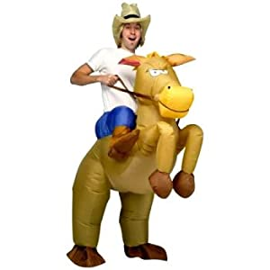 Aufblasbares Kostüm - Pferd Und Cowboy - automatisch aufblasend bei aufblasbar.de