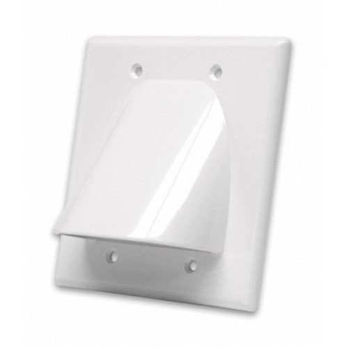 Electric And Cable Wall Plate : Vanco wpbw wx dual gang bulk cable wall plates white