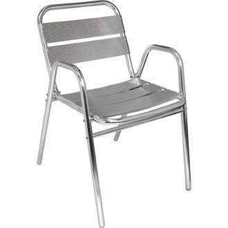 Garden / Patio Stacking Aluminium Chair with Arched Arms (Pack 4) - stylish and durable furniture for your garden