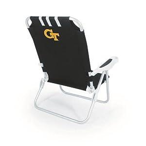 NCAA Georgia Tech Yellow Jackets Monaco Folding Beach Chair by Picnic Time