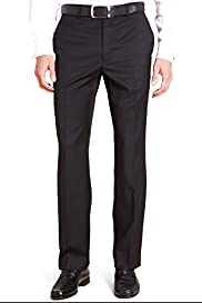 Collezione Luxury Pure Wool Flat Front Trousers