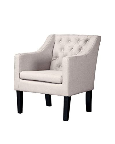 Baxton Studio Brittany Club Chair, Beige