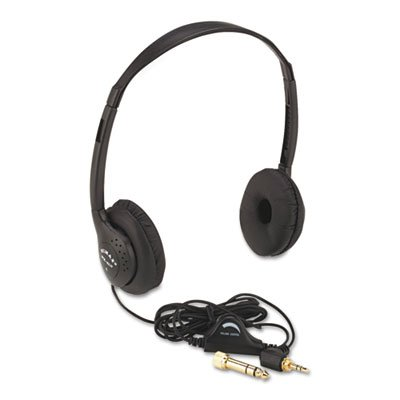 """Amplivox """"Personal Multimedia Stereo Headphones With Volume Control, Black"""" Unit Of Measure: Ea, Manufacturer Part Number: Sl1006"""