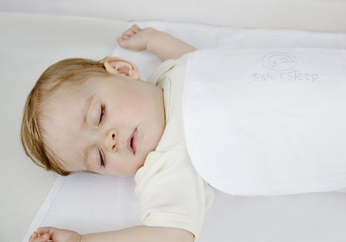 Safe T Sleep Sleepwrap Classic Baby Swaddle For Bassinets, Cribs and Single Beds