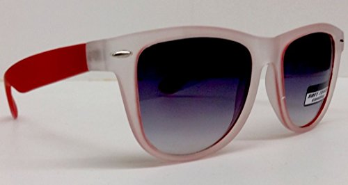 Red Frosted Soft Touch Rubber Wayfarer Sunglasses