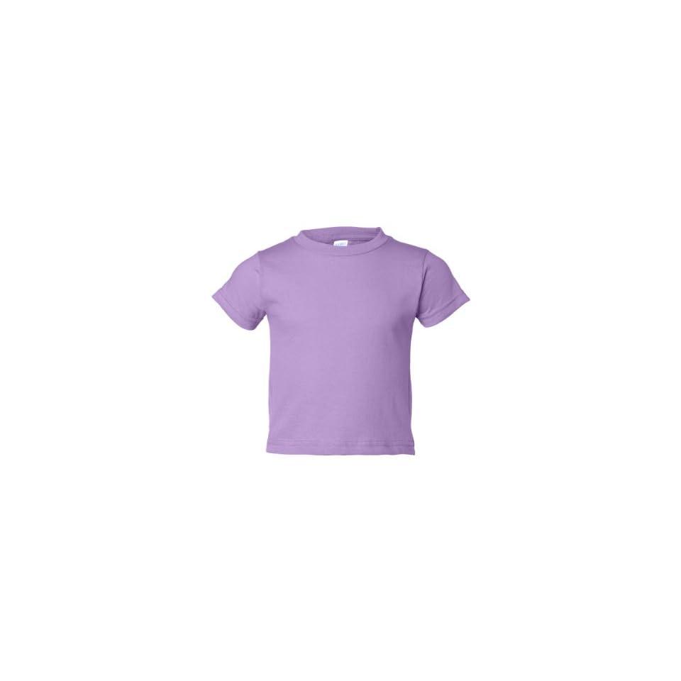 Rabbit Skins 3301T Toddler Short Sleeve Cotton T Shirt (Lavender, 2T)