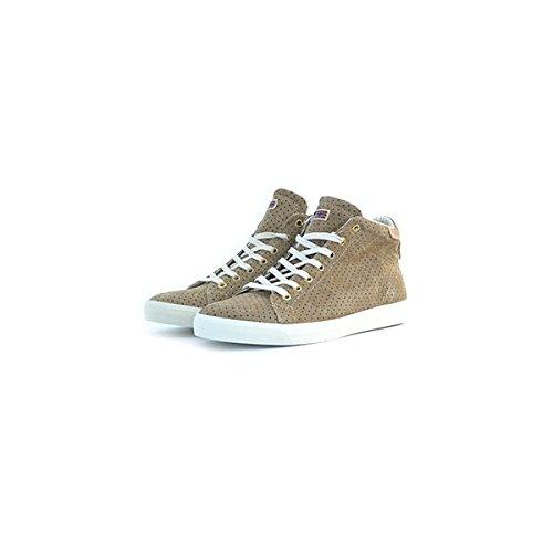 Scarpe sneakers Napapijri da uomo beige in camoscio traforato, 42