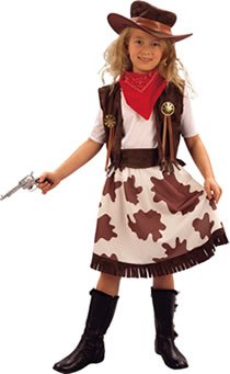 Bristol Novelty Cowgirl / Cowprint Skirt (M)