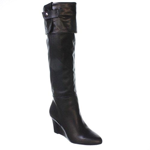 Adrienne Vittadini Footwear Women's Mac Knee-High Boot, Black Nappa, 7.5 M US