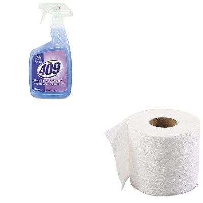 Kitbwk6145Cox35293Ea - Value Kit - Clorox Formula 409 Glass Amp;Amp; Surface Cleaner (Cox35293Ea) And Boardwalk 6145 Two-Ply Bathroom Tissue (Bwk6145) front-604384
