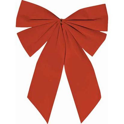 Red Velveteen 15in x 11in Holiday Bow
