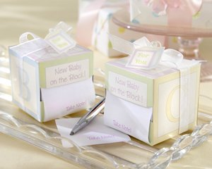 """""""Take Note! New Baby On The Block!"""" Sticky Notes - Set Of 50"""