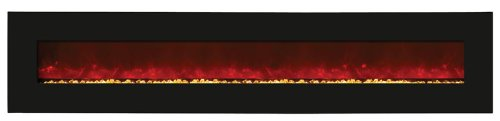 "Amantii Wall Mount/Builtin 115"" Electric Fireplace Wmbi10611524Blkgls"