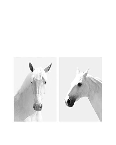 Art Addiction White Horses II Set of 2, Multi, 36 x 24