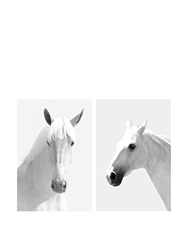 Art Addiction White Horses II Set of 2, Multi, 36