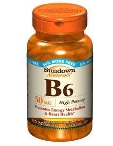 Vit B-6 Tablets 50 Mg Sundown, Size: 100+50