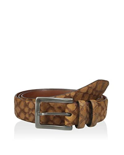 Torino Leather Co Men's Stone Etched Calf Leather Belt