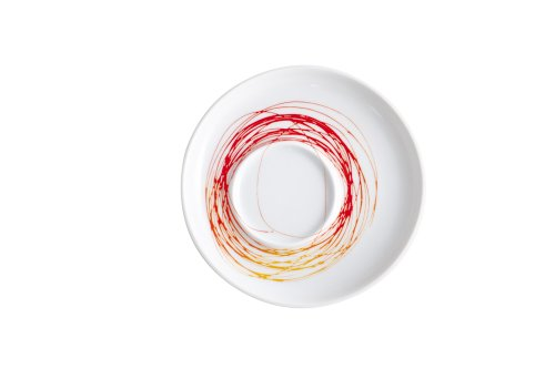Kahla Five Senses Saucer 7 Inches, Whirl Red/Yellow Color, 1 Piece
