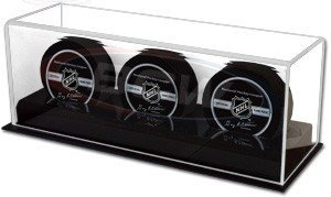 BCW Acrylic Base Triple Puck Display by BCW