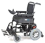 Wildcat Folding Power Wheelchair with Peace Of Mind, EXTENDED WARRANTY – Black, 20″ Seat