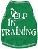 Elf in Training Holiday Dog Pet Tank - Small