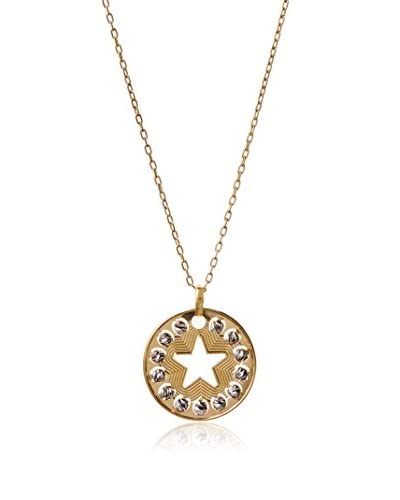 Argento Vivo Star Cutout Pendant With Diamond Cut Beads