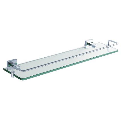 KRAUS KEA-14445CH Aura Bathroom Shelf with Railing