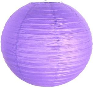 """Perfectmaze 12 Piece 8"""" (Inch) Round Chinese Paper Lantern For Wedding Party Engagement Decoration_Lavender"""