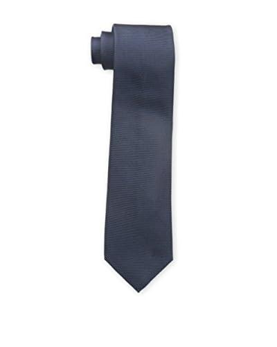 Burberry Men's Plain Silk Tie, Indigo