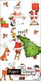 Paper+Design ミニペーパーナフキン クリスマス サンタさん