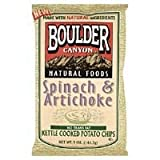 Boulder Canyon Spinach Artichoke Kettle Chip Gluten Free 5 Oz (Pack of 12) sale 2015